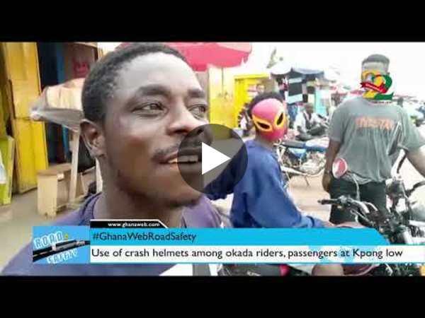 #GhanaWebRoadSafety: Use of crash helmets among okada riders, passengers at Kpong low