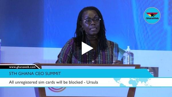 All unregistered sim cards will be blocked - Ursula Owusu=Ekuful