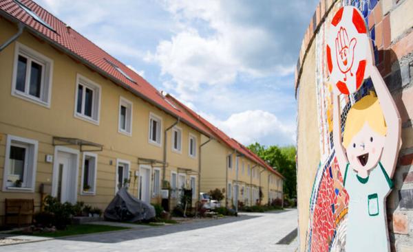 Eine Straße der Eigenheimsiedlung in der Teltower Vorstadt. Foto: Julius Frick