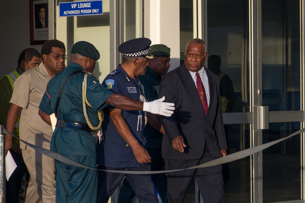 President Baldwin Lonsdale returning to Port Vila in 2016