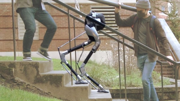 Watch a 'blind' bipedal robot successfully navigate stairs