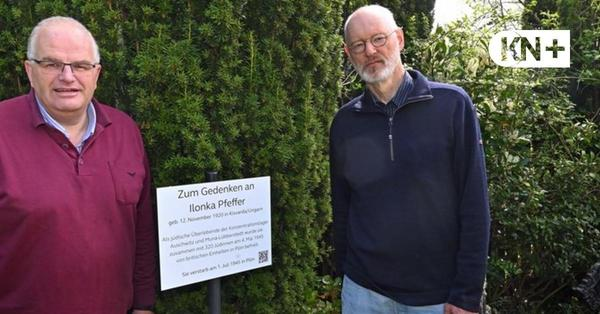 Gedenken an NS-Opfer in Plön: Tafel würdigt Jüdin Ilonka Pfeffer