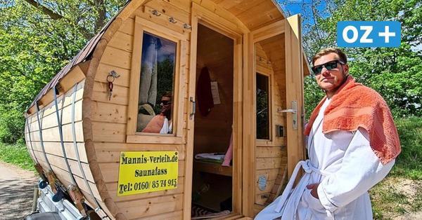 Aufguss, wo und wann man will: Rostocker erfüllt sich Traum mit mobiler Sauna