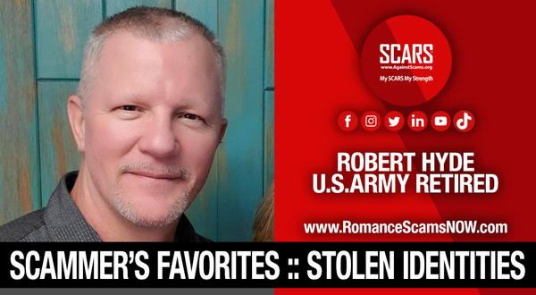 Robert Hyde - Another Stolen Identity Used To Scam Women | Impersonation Victim Galleries