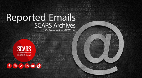 Reported Scammer Email Addresses - May 2021 - SCARS Archives | SCARS Archives: Email Addresses