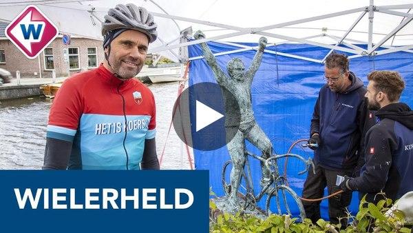 RIJPWETERING - Bronzen beeld van 'wielerheld' Joop Zoetemelk gered na oproep (video)