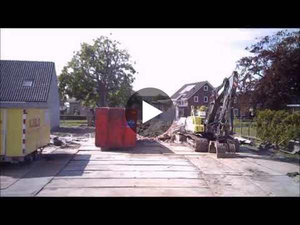 NIEUWE WETERING - Time-lapse van sloop en bouw van een woning (video)