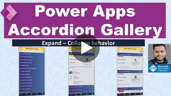 Power Apps Accordion Gallery (Expand/Collapse Gallery)