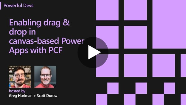 Enabling drag & drop in canvas-based Power Apps with PCF
