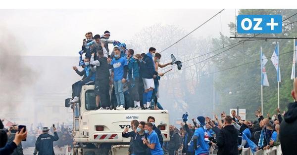 Hansa Rostock: So lief die Party nach dem Aufstieg in die 2. Liga