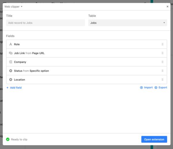 Configure the web clipper app