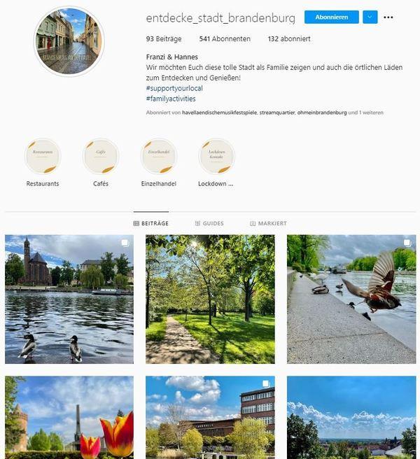 Per Klick aufs Bild geht es direkt zum Instagram-Profil.