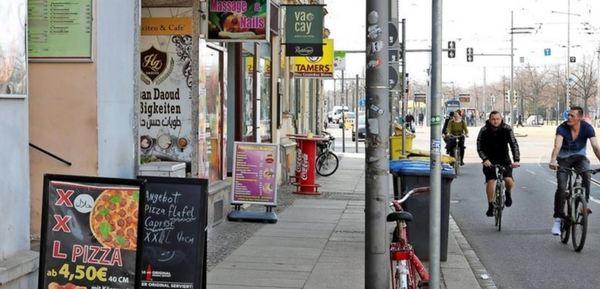 Bunte, vielfältige Meile: Die Jahnallee bietet immer mehr Gastronomie – und zunehmend hochklassig. Foto: André