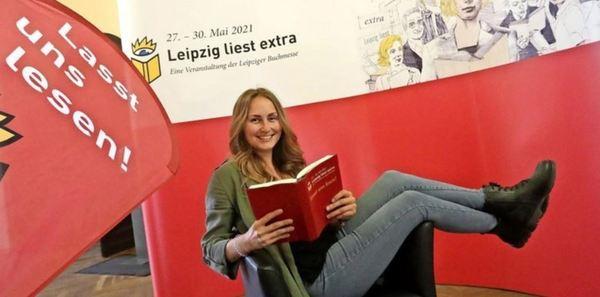 """Nicht nur Maxi Zaumseil freut sich auf das Lesefest """"Leipzig liest extra"""", das am Donnerstag beginnt. Foto: André Kempner"""