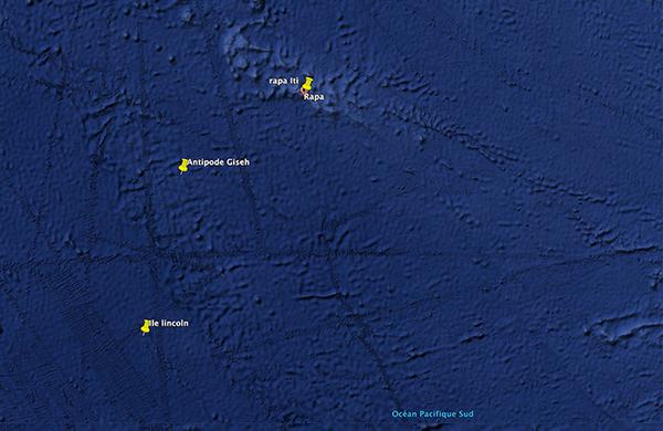 L'emplacement de l'île Lincoln (L'Ile mystérieuse de Jules Verne)