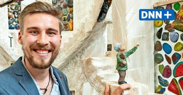 Die Dresdner Coronastein-Skulptur ist fertig und kann im Landhaus besichtigt werden