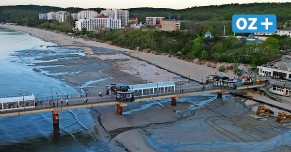 Saisonvorbereitung: Strand in Misdroy wird aufgespült