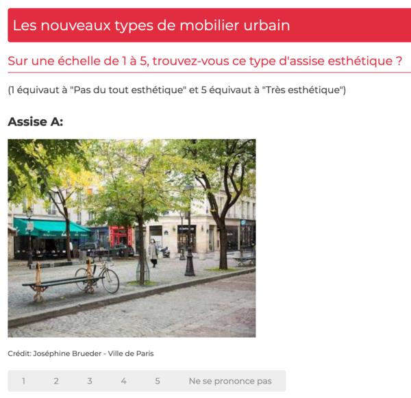 """Pretty good practice: Die Pariser dürfen über ihr Mobiliar abstimmen Foto: Screenshot """"Idee.Paris"""""""