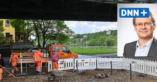 Linken-Verkehrsexperte begrüßt die Poller am Blauen Wunder in Dresden