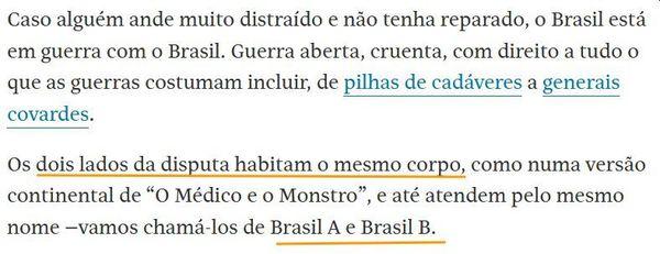 Trecho da coluna do Sérgio Rodrigues na Folha (26/05/21)