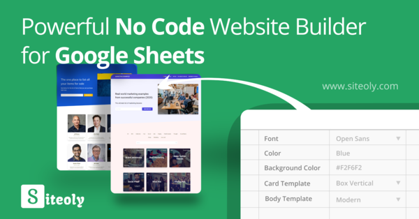 Siteoly: Build websites from Google Sheets