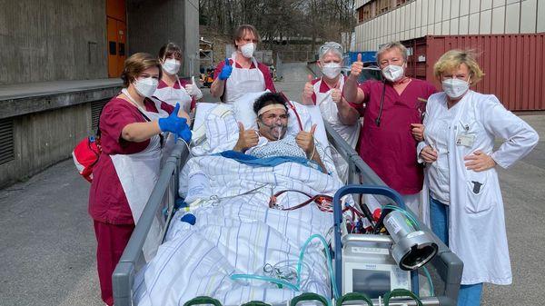 Endlich entlassen: Corona-Patient verbringt 129 Tage auf der Intensivstation