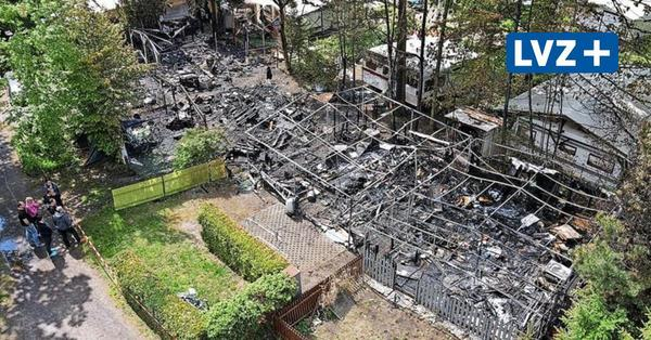 Einsatz für die Kameraden: Wohnwagen stehen auf Seecampingplatz Pahna in Flammen