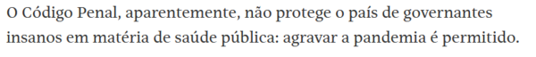 Luis Francisco Carvalho Filho, coluna da FSP 29/05/21