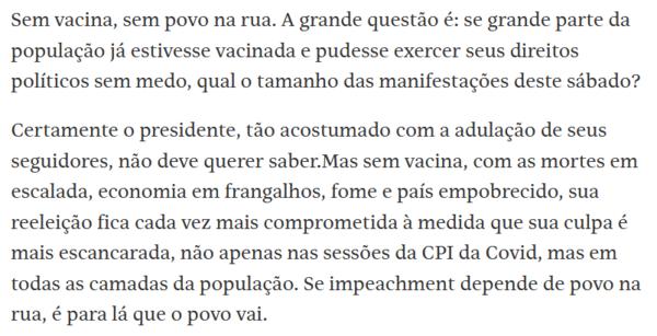 Mariliz Pereira Jorge, coluna FSP 30/05/21