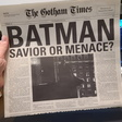 """CONTEST: Win a Copy of """"The Gotham Times"""" from THE DARK KNIGHT   BATMAN ON FILM"""