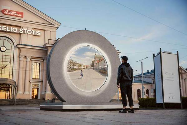 The Future is Here: Vilnius Invites Residents to Connect with Another City Through a 'PORTAL'   We love Lithuania