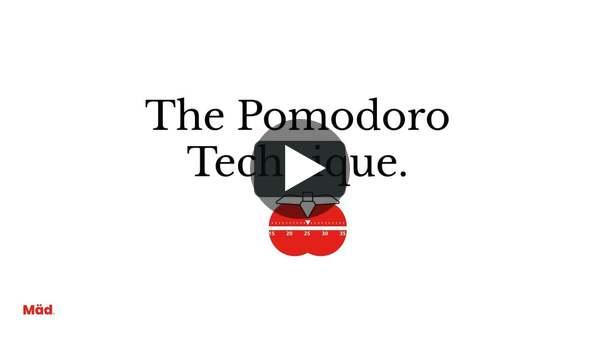 The Pomodoro Technique.