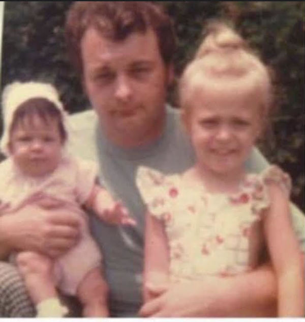 My sister Jaime, our Dad, and Me - 1976.