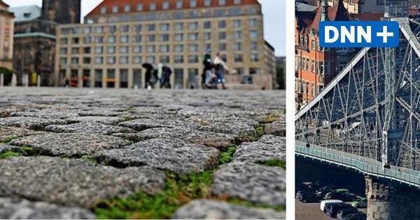 Das Blaue Wunder in Dresden muss für den Altmarkt herhalten