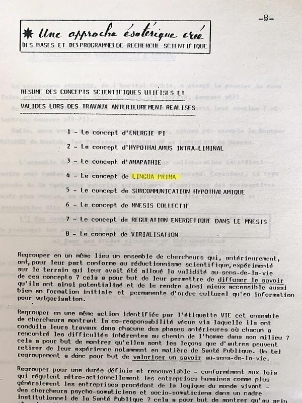 Dossier de présentation ARSCE-IVE daté de 1982