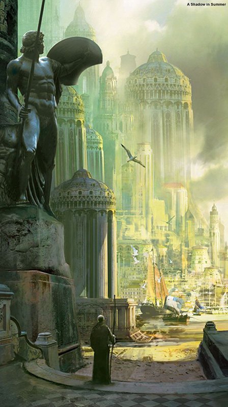 A Shadow in Summer cover artwork by Stephan Martinière