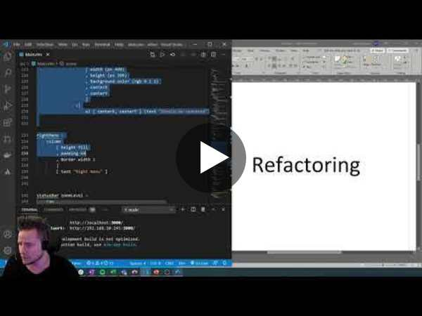 Refactoring - Part 3 of Making a graphical editor in Elm (elm-ui)
