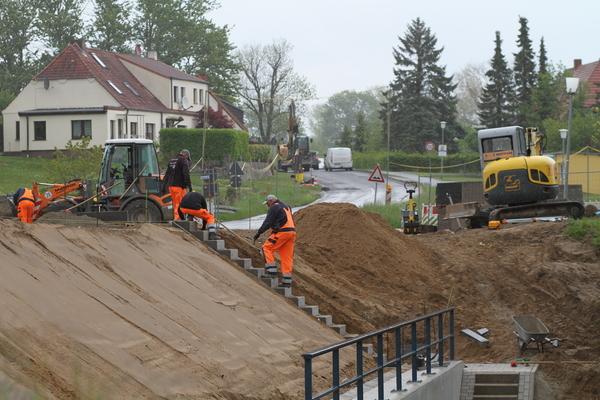 Bauarbeiten in Satow (Foto: Straßenbauamt Stralsund)