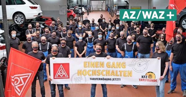 Beschäftigte des Autohauses Wolfsburg setzen Zeichen der Solidarität