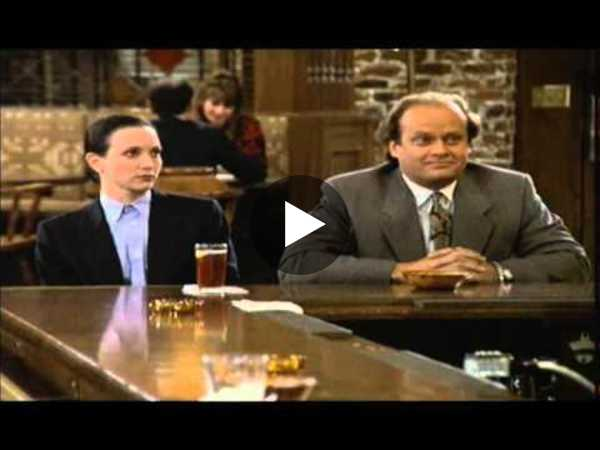 Cheers - Frasier & Lilith Argue about Freud