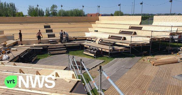 Furnes construit une arène d'été pour accueillir les événements - Veurne bouwt zomerarena voor evenementen