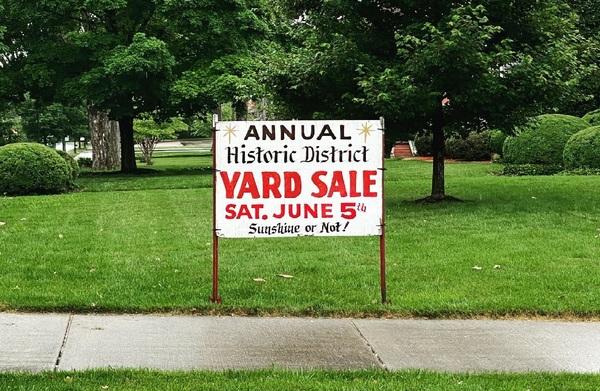 Historic District Yard Sale!! | Sat June 5th @8am