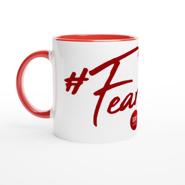 #FearLess! - White 11oz Ceramic Mug with Color Inside - SCARS Design