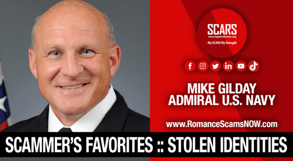 Admiral Mike Gilday – Another Stolen Identity Used To Scam Women – SCARS Romance Scams Education & Support Website