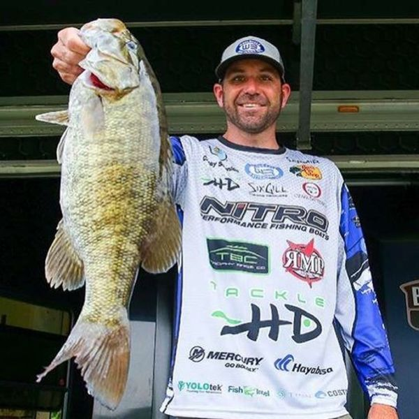 Casey Scanlon, a pro on the Major League Fishing circuit, uses spinnerbaits to catch lunker basss.