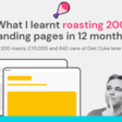 What I learned roasting 200 landing pages in 12 months