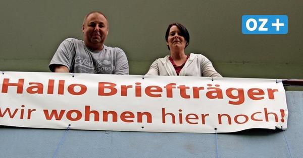 Die letzten Bewohner im Plattenbau: Greifswalder Familie will nicht ausziehen