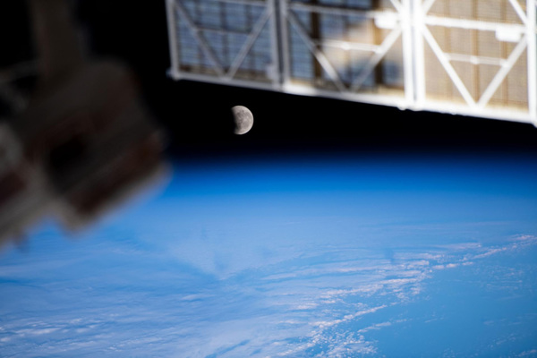 The Moon pictured from the International Space Station. Photo: NASA