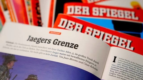 « Jaegers Grenze » : l'article co-écrit par Claas Relotius et Juan Moreno (EPA)