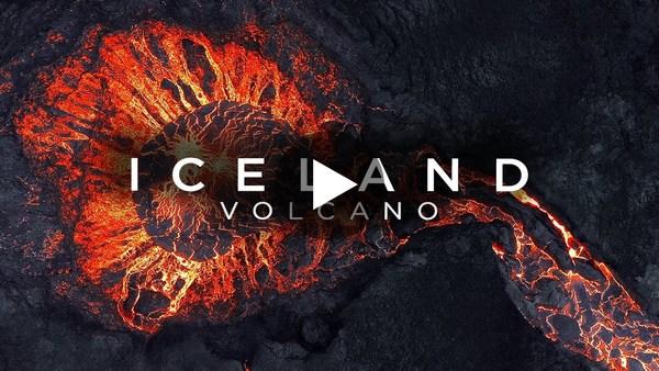STUNNING Drone Video of ICELAND VOLCANO Eruption | 4K DJI FPV